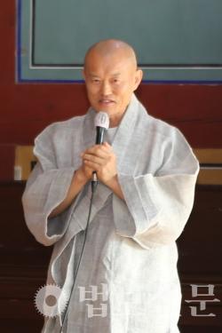 원오사 주지 정관 스님.